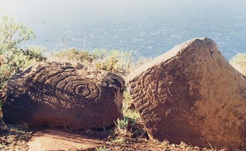 Resultado de imagen de grabados rupestres de Tindaya